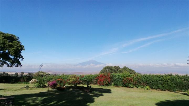 Het uitzicht van Wim in Tanzania...