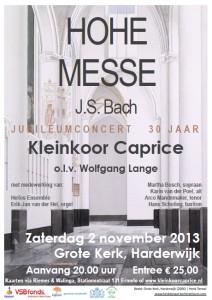 Hohe Messe 2 november 2013 Kleinkoor Caprice